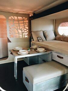 Bett in Campervan